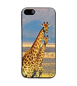 YuBingo Apple iPhone 5 2D Designer Phone Back Case Cover ( Giraffe Couple )