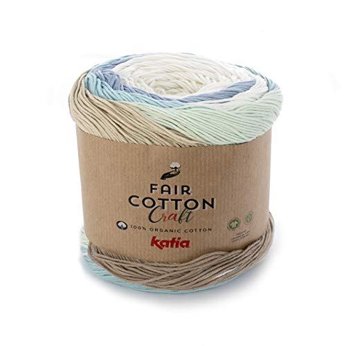 Fair Cotton Craft Katia Fb. 502, Bobbel Bio Baumwollgarn Farbverlauf getwistet, Organic Cotton, GOTS -