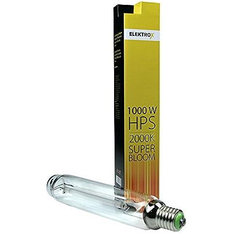 Elektrox 1000W Lámpara de vapor de sodio NDL HPS Super Bloom