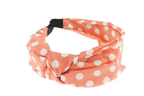 Damen Retro Chiffon drapierte Schleife Blumen 2,5cm Kopfband alice Band (Drapierte Krawatte)