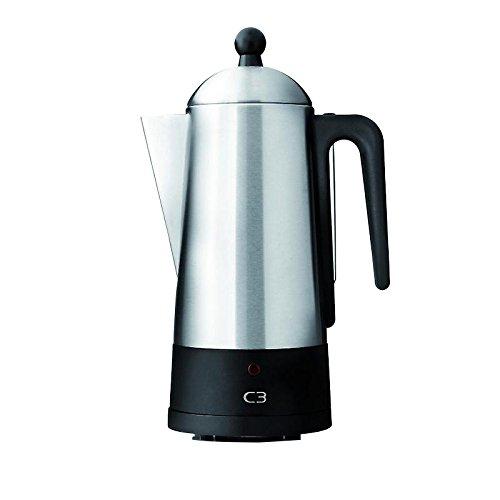Bialetti 30-32001 Cafetière Design percolateur eco pour 2-6 Tasses Argent