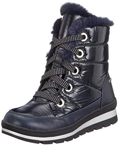 CAPRICE Damen Winterstiefel 26221-21,Frauen Winter-Boots,Fellboots,Fellstiefel,gefüttert,warm,Tex Decksohle,4cm,Ocean Comb,UK 4