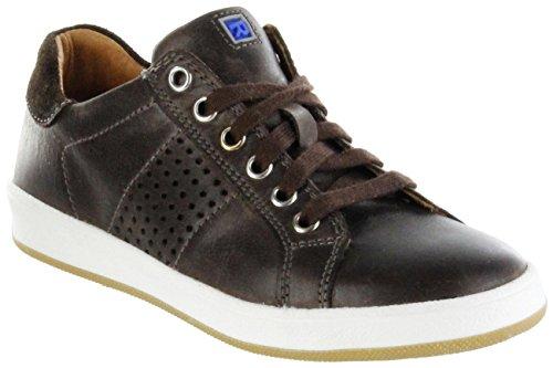 Richter Kinder Halbschuhe Sneaker braun Glattleder Jungen Schuhe 6824-344-9501 Coffee Special, Farbe:braun, Größe:35