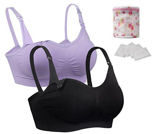 iLoveSIA Still BHS ohne Bügel Unterwäsche weichen vorgeformten Cups Lavendel+Schwarz Größe L