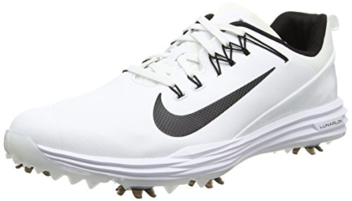 Nike Lunar Command 2, Chaussures de Golf Homme, Blanc (White/Black), 45 EU