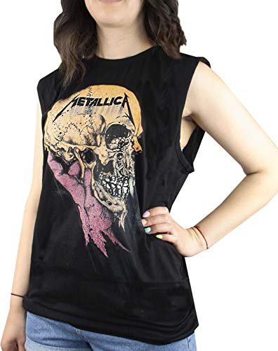 Amplified Metallica Sad But True Women's Sleeveless T-Shirt (M)