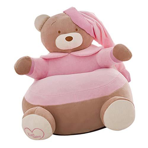 FLAMEER Kinderzimmer Sitzsackhülle Sitzsack Bezug Hülle Abdeckung ohne Füllung - Rosa Bär