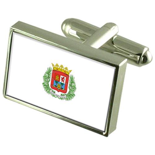 Preisvergleich Produktbild Las Palmas Stadt Spanien Flagge Manschettenknöpfe