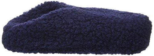 Woolsies Hedgehog Natural Wool Mule Slippers, Chaussons montants mixte adulte Bleu (navy Blue)