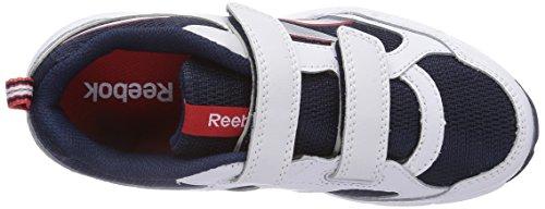 Reebok Almotio 2.0 M4717, Jungen Laufschuhe Mehrfarbig (White/Collegiate Navy/Red Rush/Matte Silver)