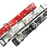 Zolux/Halskette Wild Forever schwarz Breite 15mm Halsumfang 27–40cm für Hunde