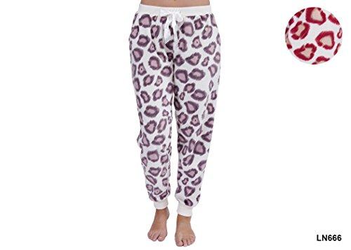 Wolf & Harte - Bas de pyjama - Femme Multicolore - Cream/Red