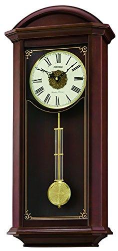 Seiko cuarzo/Batería Reloj De Pared De Madera Con Westminster/Whittington timbre inalámbrico, control de volumen, péndulo. qxh065b