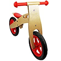 Oypla Kids Red Wooden Balance Training Bike Cycle Bicycle
