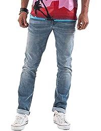 Meltin'Pot - Jeans MONTREAU D0131-UM510 para hombre, estilo ajuste apretado, ajuste ceñido, talle muy baja