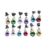 Frcolor Ornamenti per barba natalizi clip per il viso decorazioni colorate lucide per eventi festivi...