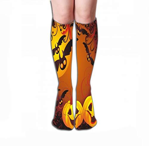 Xunulyn Hohe Socken Men Women Outdoor Sports High Socks Stocking Halloween Nature Tile Length 19.7