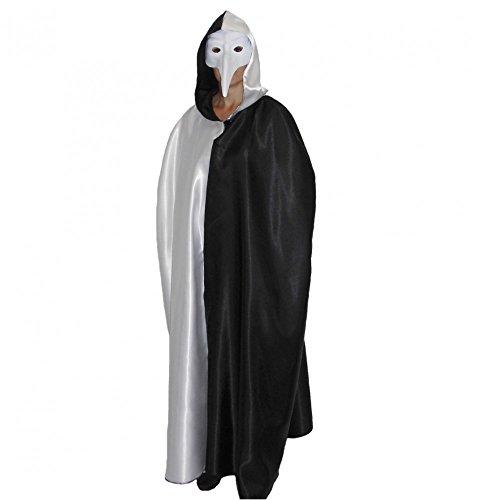 Umhang Venezia schwarz-weiß Einhgr. Kostüm Maskenball Venedig Fasching Karneval