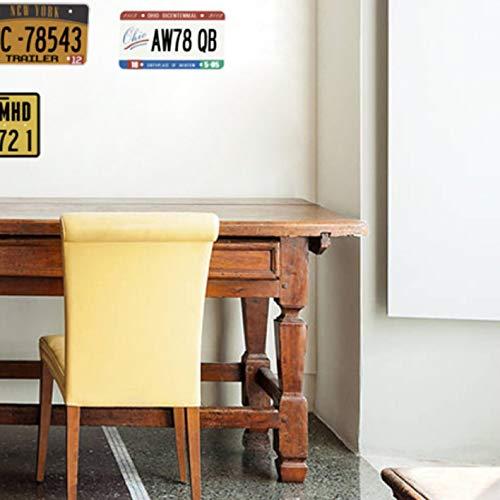 Oldtimer Nummernschild Wandaufkleber Wohnzimmer Bar Pub Cafe Wohnkultur Retro Zeichen Wandtattoos DIY Poster PVC Wandkunst