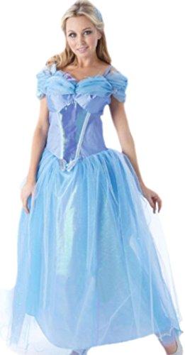 Karnevalsbud - Damen Cinderella Prinzessinnen Kleid Kostüm , S, (Erwachsene Prinzessin Kostüm Für Tiana)