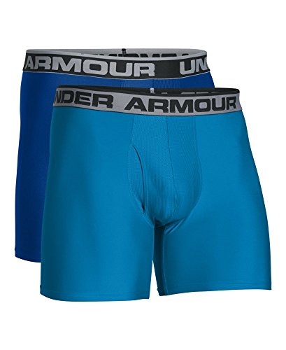Under Armour Herren Sportswear Unterhose 2er Packung (1 Paar) Heatgear 6 Zoll Boxerjock Royal/ Brilliant Blue/ Brilliant Blue