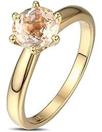 Hochwertig Morganite Edelstein Ring Verlobungsring Damenring Ehering Hochzeit