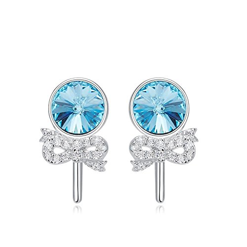 Haixin creativi farfalla cristallo 925 sterling silver lady orecchini con swarovski elements