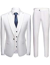Costume Homme 3 Pcs Veste Gilet et Pantalon Mariage Party Smoking c62cc9ceabd