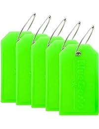 CSTOM 2/5 Pezzi Etichette per Valigie Bagaglio Accessori da Viaggio Luggage Tag - 5 Colore