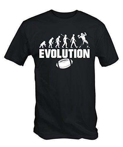 6TN Herren Evolution des American Football T-Shirt - Schwarz, Small