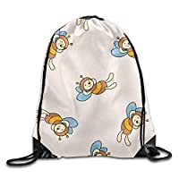 NiPapack Outdoor Sports Team Drawstring Bag Gym Bags - (Lovely Bess Design)