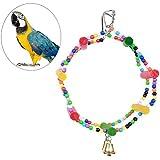 UEETEK Juguete colorido del pájaro de la escala, puente del oscilación del arco iris Juguete del pájaro que sube la escalera para el entrenamiento del animal doméstico del loro