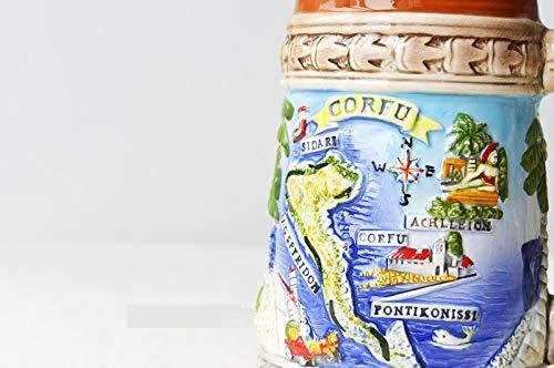 tobbrt Figuren Kreative Griechische Ägäis Europäischen Landschaft Handbemalt Keramik Mark Cup Wasser Tasse Kaffeetasse Geschenk Tasse Bier Cup