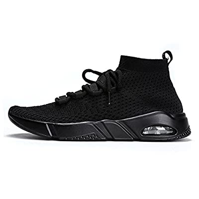 Mens Walking Shoes Lightweight Breathable Running Shoes Flyknit Fashion Sneakers by