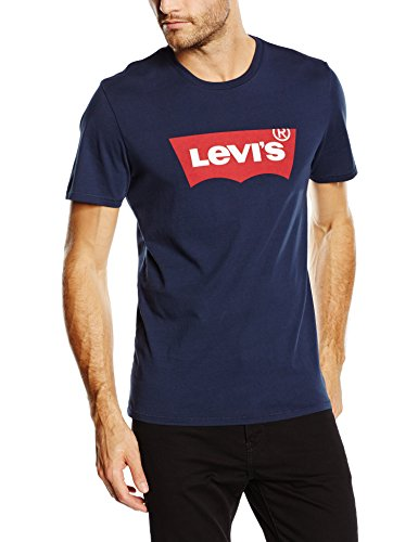 Levi's GRAPHIC SET-IN NECK, T-Shirt Homme, Bleu (C18977 GRAPHIC H215-HM DRESS BLUES GRAPHIC H215-HM 36.3), Medium