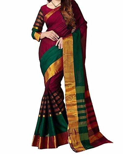 Aarvicouture Printed Multi colour Bhagalpuri Saree for Women's
