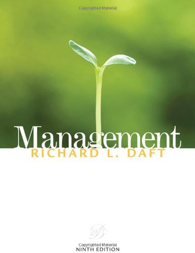 Management (Available Titles CourseMate) by Richard L. Daft (2009-02-18)