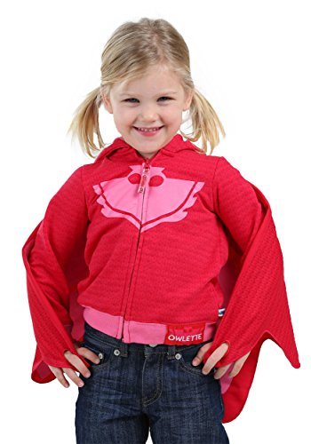 PJ Masks Owlette Toddler Girls Fancy dress costume Hooded Sweatshirt 5T (Mesh-pj)