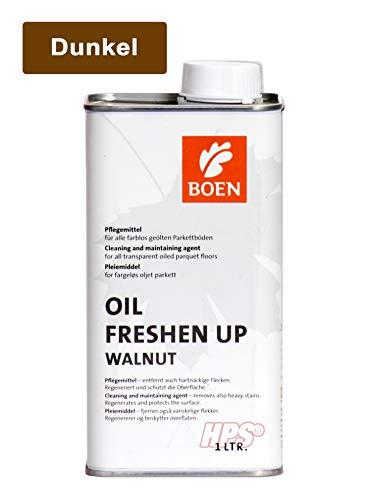 HPS® Pflegeset - BOEN Oil Freshen Up DUNKEL 1Liter Pflege für dunkel geölte Parkettböden inkl. 1Stück Auftragsvlies