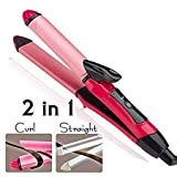 WideWings 2 in 1 Hair Beauty Set | Electric and Professional Hair Curler And Hair Straightener (Multi-Colour)