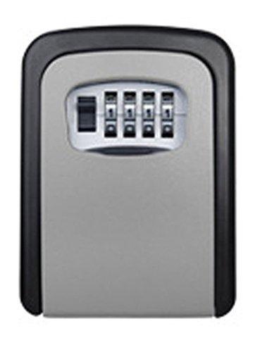 Key Storage Lock Box,an der Wand befestigter Key Lock Box mit 4-stelliger Kombination,hält bis zu 5 Schlüssel,für Hausschlüssel oder Autoschlüssel(Schlosskasten(grau))