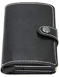 c3021d03c Monedero antirrobo para Tarjeta de crédito Vintage para Hombres Bloque RFID  Cartera de Cuero Unisex Información