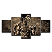 DZBMY Wall art painting Printed On Canvas Wall art canvas,Modern High-Definition Art Canvas Print, Bruce Lee Kung Fu Set Oil Painting Picture Canvas Wall Art Living Room Bedroom Home Decoration