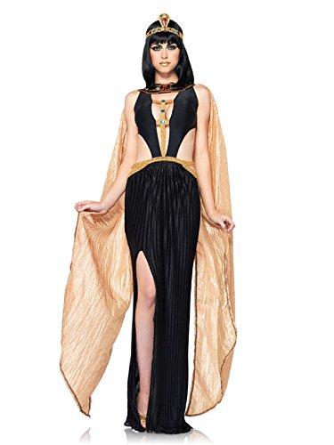 Sexy Cleopatra Antike Damenkostüm Ägypterin schwarz gold L