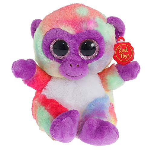 (Keel Toys Animotsu Regenbogen Affen Plüsch Spielzeug (Einheitsgröße) (Regenbogen))