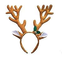 Toyvian Damas de los niños Reno Cabeza de asta de aro con Bell Party Banda para el Cabello Banda para la Cabeza Disfraces de Navidad Accesorio
