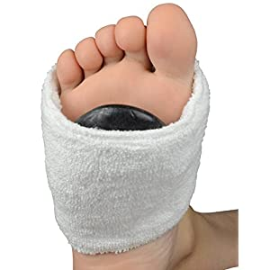 Hot Stone Fußband mit Klettverschluss, 1 Paar, Reine Baumwolle