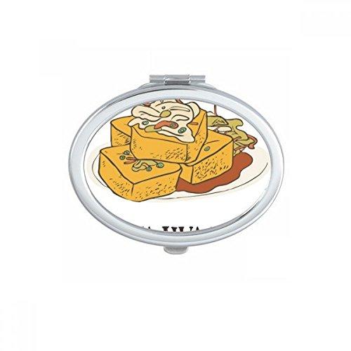 DIYthinker Serpent fritures Morceaux de Poulet Ovale Maquillage Compact Miroir de Poche Portable Mignon Petit Miroirs Main Cadeau Multicolor