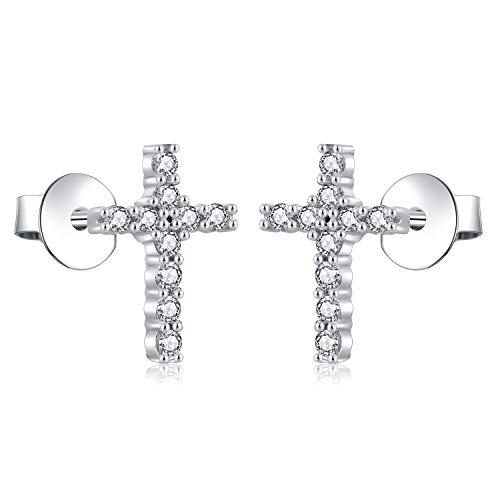 AoedeJ - Pendientes con forma de cruz...