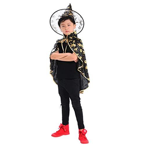 QinMM Kinder Erwachsene Kinder Halloween Baby Kostüm Zauberer -